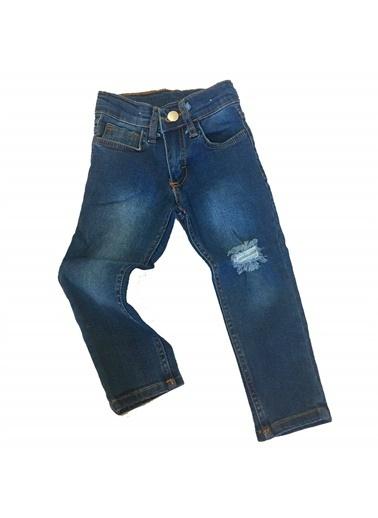 Quzucuk Kids Erkek Çocuk Taşlamalı Likralı Kot Pantolon Renkli